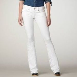 American Eagle Original Boot Cut White Jeans 4